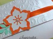 Matrimonio arancione bianco partecipazioni fiore tridimensonale