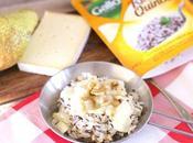 Riso quinoa pere, noci formaggio