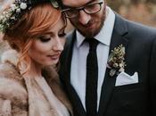 green winter wedding