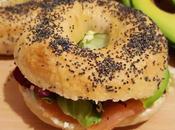 Bagels philadelphia, salmone, prosciutto avocado
