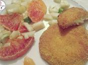 Medaglioni baccalà insalata arance finocchi
