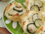 Sfogliatine salate zucchine ricotta fresca