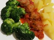 Polpette sugo patate broccoli