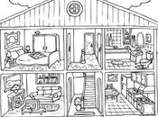 Free Coloring Pages Febbraio Tema: Room House