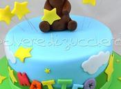 Torta compleanno orsetto tridimensionale pasta zucchero