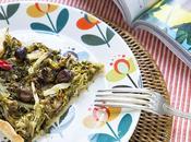 Torta salata insalata riccia, acciughe olive taggiasche…super light