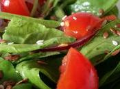 Insalata spinaci semi lino, sesamo pomodorini