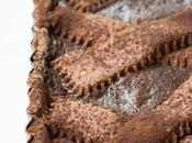 Crostata nocciole cacao senza glutine ripieno cioccolati