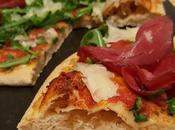Pizza semintegrale rucola, bresaola, raspadura lievito madre