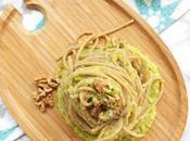 Spaghetti integrali alla crema porri noci