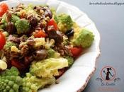 Broccolo romanesco insalata pomodorini, acciughe olive taggiasche