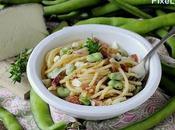 Spaghetti alla Chitarra Guanciale, Baccelli Pecorino