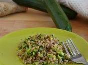 Farro zucchine zenzero