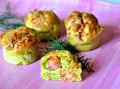 Muffin salati salmone zucchine