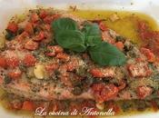 Filetto trota salmonata forno pomodorini olive