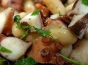 Come preparare polpo fagioli cannellini, rucola, lime colatura alici Cetara