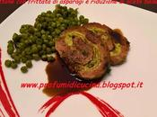 Polpettone frittata asparagi riduzione aceto balsamico