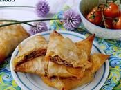 Fagottini Pasta Phyllo Robiola, Pomodorini, Olive Erba Cipollina