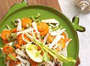 Insalata seppia grigliata verdure croccanti zenzero