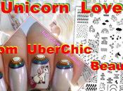 UberChic Beauty Unicorn Love Nail Stamping Plate Swatches Review