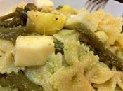 Pasta fredda pesto leggero, patate, fagiolini Asiago