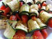 Contorno vegetariano zucchine pomodori confit