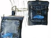 Borsine guinzaglio jeans Denim bags leash