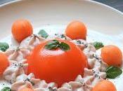 Aspic melone chantilly prosciutto