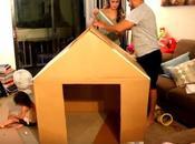 Costruire bella casetta cartone bambini