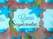 Segnagusto confetti tema mare stelle marine colore turchese