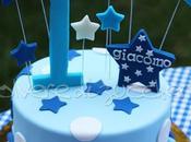 Torta decorata compleanno bimbo stelle pasta zucchero