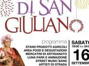 """notte Giuliano"""": street food, musica fuochi d'artificio"""