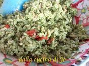 Riso ostigliato pesto erbe aromatiche tonno