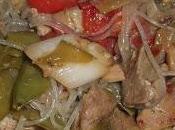 Spaghettini soia maiale agrodolce