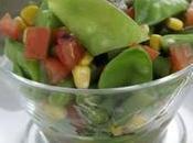 Insalata tiepida verdure, sana semplice ingredienti stagione.