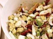 Insalata pollo avocado, feta indivia