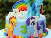 Torta decorata Little Pony compleanno bimba con: Rainbow Dash, Rarity, Applejack pasta zucchero