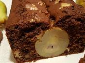Plumcake cacao, noci, cioccolato pere