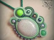 "Ciondolo soutache ""Monica Green"""