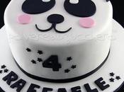 Torta Panda pasta zucchero: torta decorata simpatica faccina