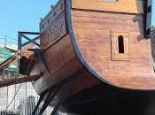 liburna della flotta Traiano mostra nella Rocca porto Civitavecchia
