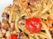 """Spaghetti ragù polpo """"muddica atturrata"""" alla bottarga verdello"""