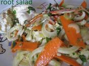 Recipe Root Salad Herbs Wine Vinegar