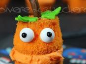 Tutorial: mini cupcakes Halloween zucca Jack o'lantern tutta mangiare, passo