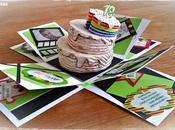 diciottesimo Explosion Wonky Rainbow Cake