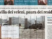 L'inquinamento della Villa Comunale prima pagina Mattino oggi dicembre 2017
