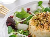 Primosale forno crosta pistacchi insalata invernale alla melagrana