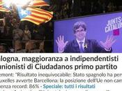 Elezioni Catalogna: vittoria agli indipendentisti, trattare Madrid