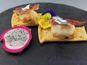 Capesante pasta sfoglia chips pancetta croccante