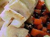 Spiedini merlano burro all'aglio lenticchie